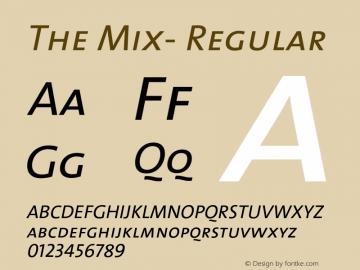 The Mix- Regular 1.0 Font Sample