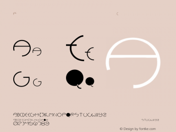 PCRounders Regular Converted from C:\TEMP\PCROUNDE.TF1 by ALLTYPE Font Sample