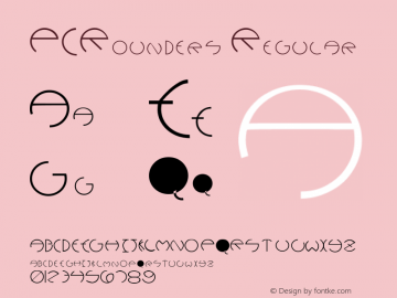 PCRounders Regular Converted from f:\x\PCROUNDR.TF1 by ALLTYPE Font Sample