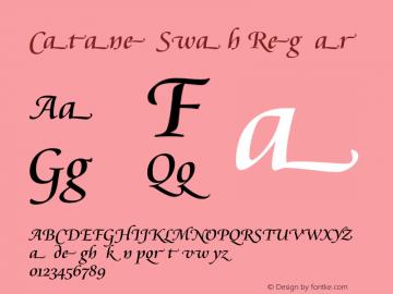Cataneo Swash Regular 003.001 Font Sample