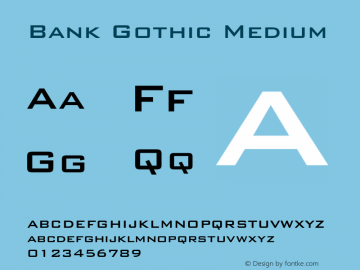 Bank Gothic Medium 2.0-1.0图片样张