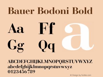 Bauer Bodoni Bold 2.0-1.0 Font Sample