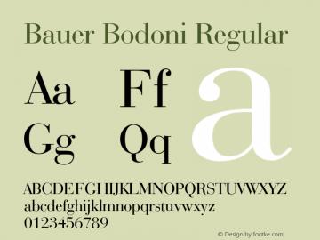 Bauer Bodoni Regular 003.001 Font Sample