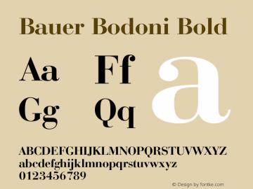 Bauer Bodoni Bold 003.001 Font Sample