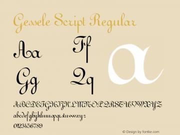 Gessele Script Regular 001.000 Font Sample