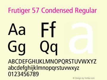 frutiger 57 condensed font