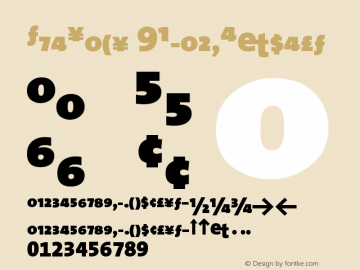 TheSans 9BlackExpert Version 1.0 Font Sample