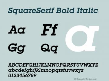 SquareSerif Bold Italic Altsys Fontographer 3.5  6/28/93 Font Sample