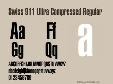 Swiss 911 Ultra Compressed Font,Swiss911BT-UltraCompressed Font