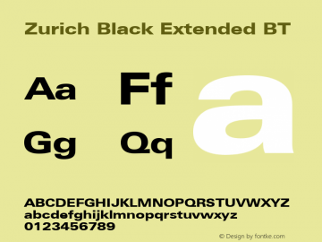 Zurich Black Extended BT mfgpctt-v1.52 Wednesday, January 13, 1993 4:28:00 pm (EST)图片样张