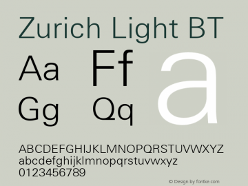 Zurich Light BT mfgpctt-v1.52 Tuesday, January 12, 1993 4:11:43 pm (EST)图片样张