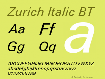 Zurich Italic BT mfgpctt-v1.52 Tuesday, January 12, 1993 4:17:15 pm (EST)图片样张