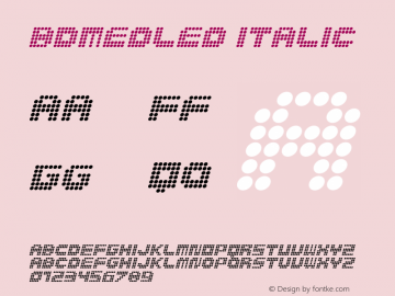 BDMedLed Italic 001.000图片样张