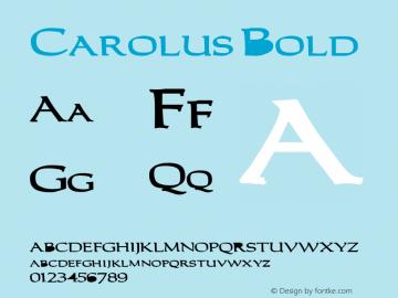 Carolus Bold Altsys Fontographer 3.5  4/18/92 Font Sample