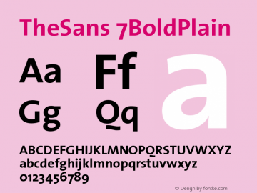 TheSans 7BoldPlain Version 1.0 Font Sample