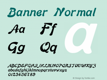 Banner Normal Altsys Fontographer 4.1 12/26/94 Font Sample