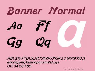 Banner Normal 1.0/1995: 2.0/2001图片样张