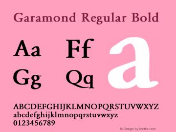 Garamond Regular Bold Converted from E:\WINDOWS\SYSTEM\GARAMOND.BF1 by ALLTYPE Font Sample