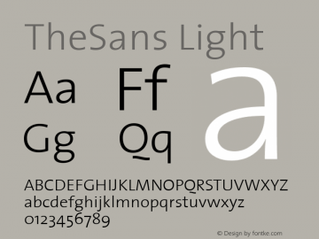 TheSans Light 1.0 Font Sample