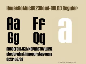 HouseGothicHG23Cond-BOLD3 Regular OTF 1.000;PS 001.000;Core 1.0.29图片样张