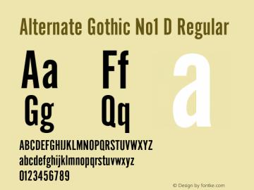 Alternate Gothic No1 D Regular 001.005图片样张
