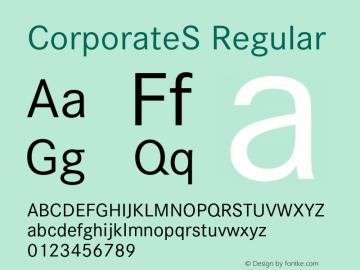 CorporateS Regular 001.004 Font Sample