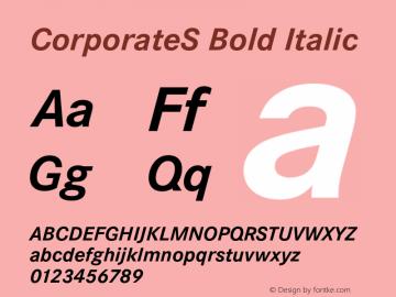CorporateS Bold Italic 001.004 Font Sample