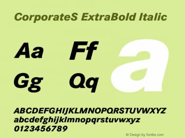 CorporateS ExtraBold Italic 001.004 Font Sample