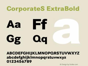 CorporateS ExtraBold 001.004 Font Sample