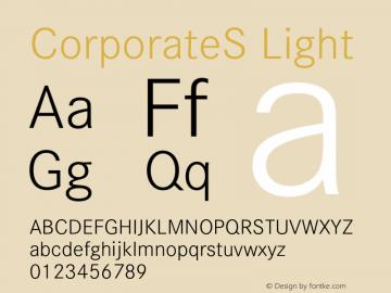CorporateS Light 001.004 Font Sample