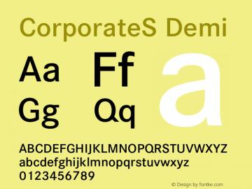 CorporateS Demi 001.004 Font Sample