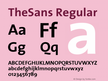TheSans Regular 1.0 Font Sample