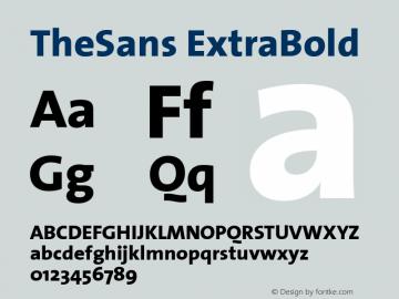 TheSans ExtraBold 1.0 Font Sample