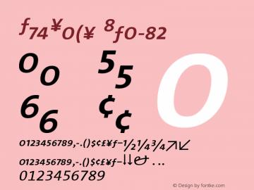 TheSans Italic 001.000 Font Sample