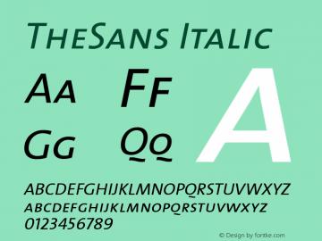 TheSans Italic 1.0 Font Sample