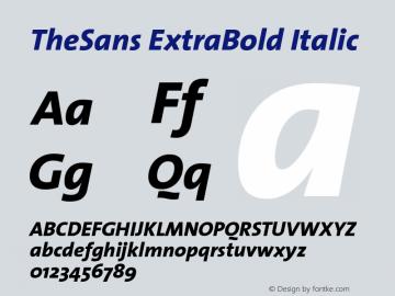 TheSans ExtraBold Italic 1.0 Font Sample