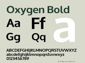 Oxygen Bold Version 1.000 Font Sample