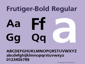 Frutiger-Bold Regular Converted from D:\NYFONT\ST000137.TF1 by ALLTYPE Font Sample