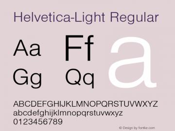Helvetica-Light Regular Converted from D:\NYFONT\ST000007.TF1 by ALLTYPE Font Sample