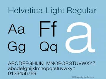 Helvetica-Light Regular 001.001 Font Sample