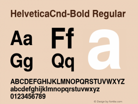 HelveticaCnd-Bold Regular Converted from D:\NYFONT\ST000000.TF1 by ALLTYPE Font Sample