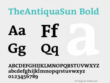 TheAntiquaSun Bold 001.001 Font Sample