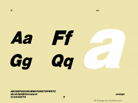 HelveticaCndObl-Heavy Regular Converted from C:\EMSTT\ST000078.TF1 by ALLTYPE Font Sample