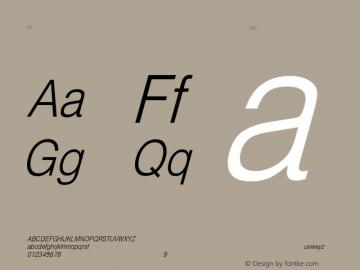 HelveticaCndObl-Light Regular Converted from C:\EMSTT\ST000083.TF1 by ALLTYPE Font Sample