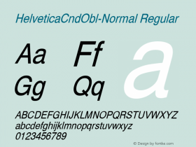 HelveticaCndObl-Normal Regular Converted from D:\NYFONT\ST000087.TF1 by ALLTYPE Font Sample