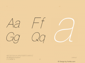 HelveticaCndObl-Thin Regular Converted from C:\EMSTT\ST000092.TF1 by ALLTYPE Font Sample