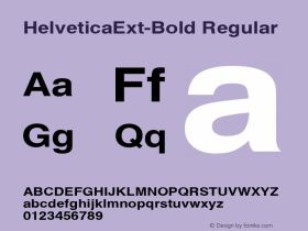HelveticaExt-Bold Regular Converted from C:\EMSTT\ST000002.TF1 by ALLTYPE Font Sample