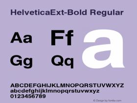 HelveticaExt-Bold Regular Converted from C:\EMSTT\ST000002.TF1 by ALLTYPE Font Sample