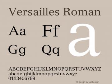 Versailles Roman 001.002 Font Sample