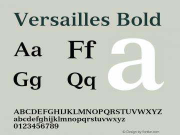 Versailles Bold 001.002 Font Sample